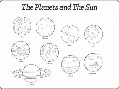 Planet Printable Solar System Coloring Cut Outs