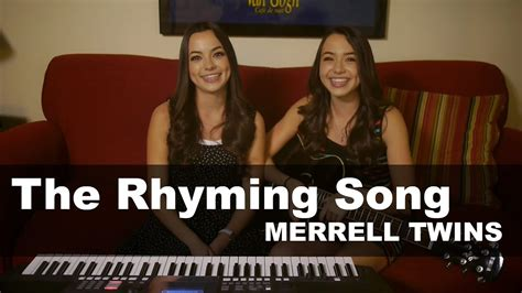 merrell twins rhyming song youtube