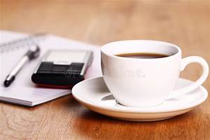 Cup, Of, Coffee, On, The, Desk, Stock, Photo, Image, Of, Blank