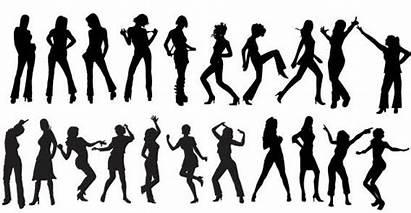 Zumba Clip Dancers Silhouettes Clipart Silhouette Vektor