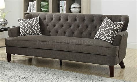 Black Fabric Loveseat by F6527 Sofa Loveseat Set In Ash Black Fabric By