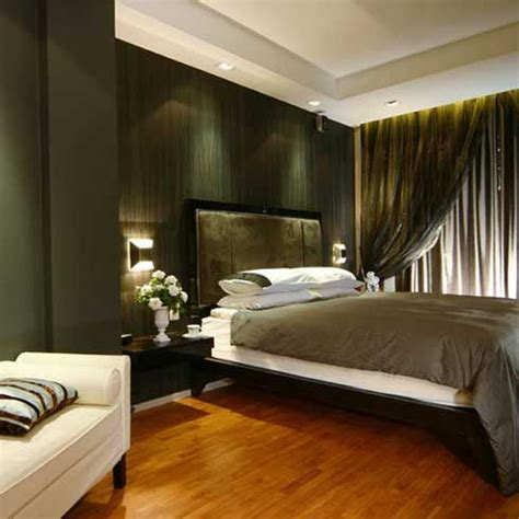 contemporary bedroom  wood floor gray bed cover