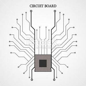 circuit board cpu abstract background vector With buy circuit board