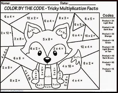 Math Multiplication Coloring Number Worksheets Printable Fun