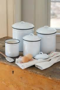 white canisters for kitchen white enamelware canister set eclectic kitchen canisters and jars by farmhouse wares