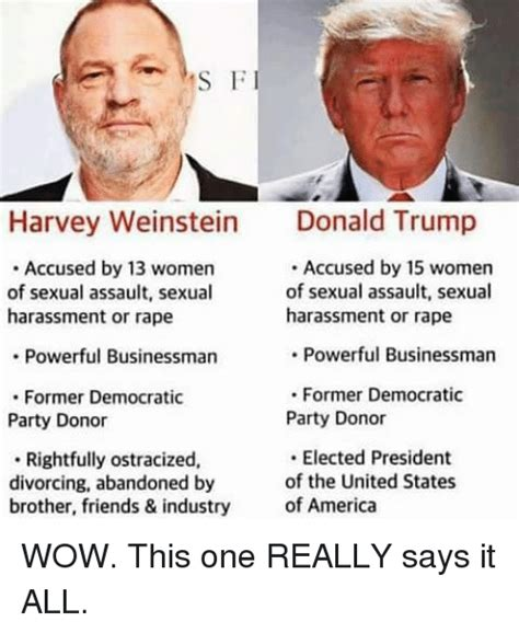 Harvey Weinstein Memes - s f harvey weinstein dald trump accused by 13 women of sexual assault sexual harassment or rape