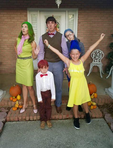 Family Inside Out costume for Halloween Disney family