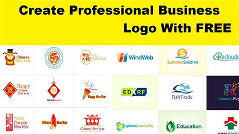 create professional business logo with free l logo making free software l easy to make logo