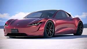 LowPoly Tesla Roadster 2020