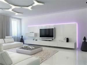 Meuble Tv Beige : le meuble suspendu de salon d core et modernise le salon tv suspendue tapis beige et meuble ~ Teatrodelosmanantiales.com Idées de Décoration
