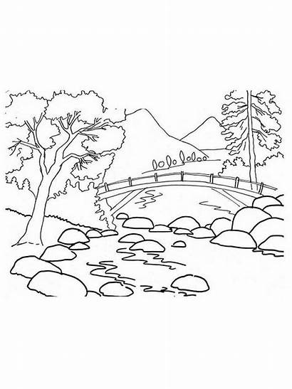 Mountains Coloring Pages Printable Nature