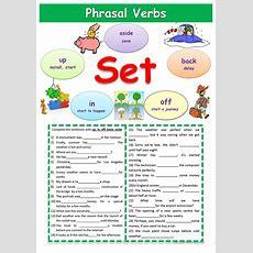 """Phrasal Verbs """"set"""" Worksheet  Free Esl Printable"""