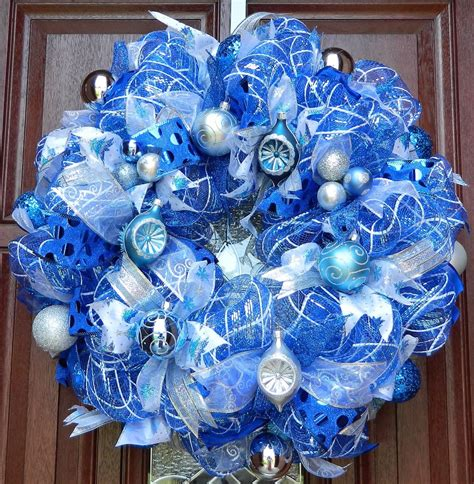 christmas decoration blue top blue and white blue and silver christmas decorations christmas celebration