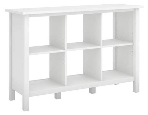 Cube Bookcase White by Bush Furniture Broadview White 6 Cube Bookcase Bdb145wh 03