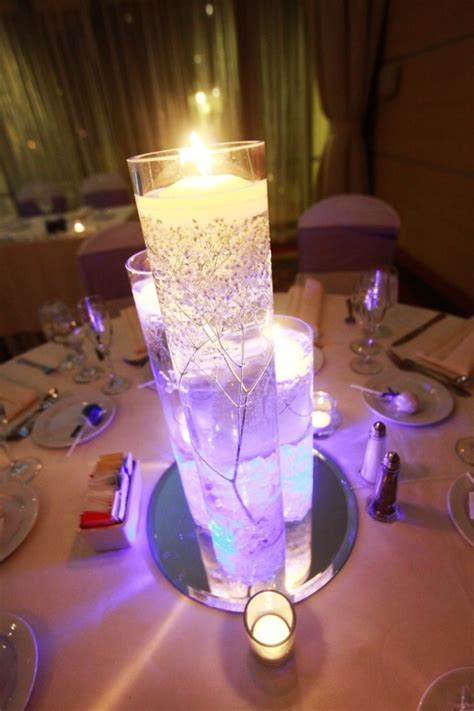 chirstmas wedding centerpieces with led lights