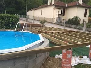 resultat de recherche d39images pour quotpiscine semi enterree With terrasse pour piscine hors sol