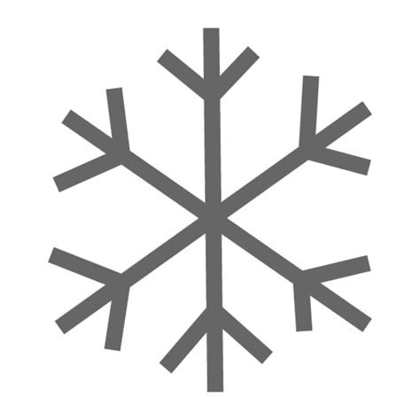 simple snowflake stencil craftcutscom