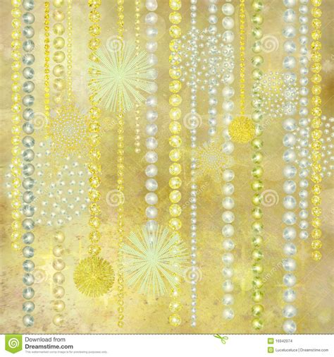 gold  pearl christmas decorations background stock
