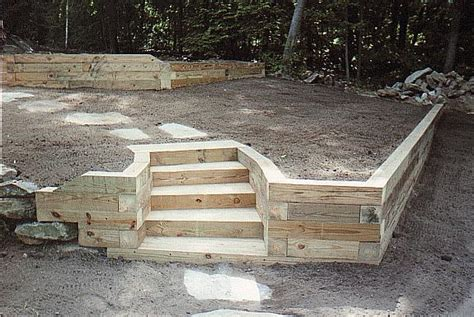 wood retaining wall construction 1000 images about landscaping on pinterest