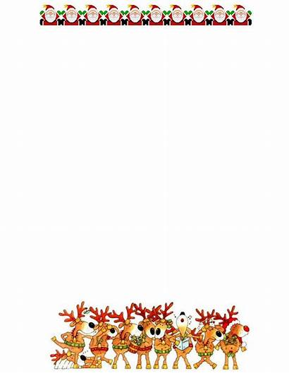 Christmas Clipart Letterhead Stationery Printable Borders Clipground