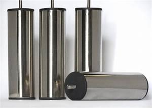 Pied De Lit Metal : pieds de lit acier chrome 200mm accessoires literie ~ Nature-et-papiers.com Idées de Décoration