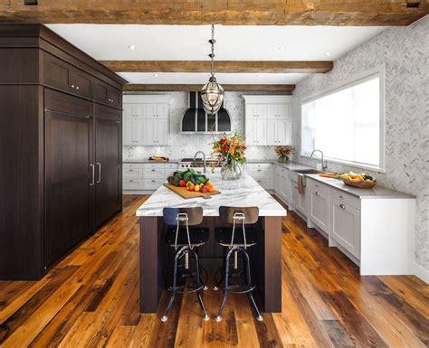 espresso kitchen island fabulous u shaped kitchen features espresso paneled fridge 3596