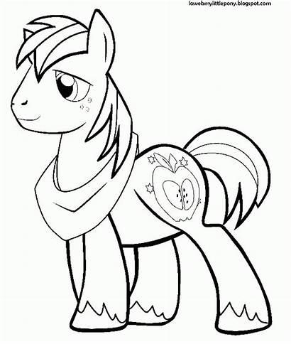 Pony Colorear Macintosh Dibujos Dibujo Coloring Ponis