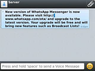 new upgraded whatsapp messenger comes with broadcast list and also here s the