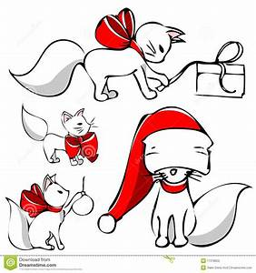 Cute Christmas Cat Clipart - Clipart Suggest