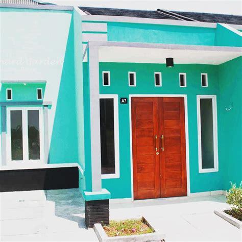 warna cat rumah minimalis tampak depan hijau cat luar