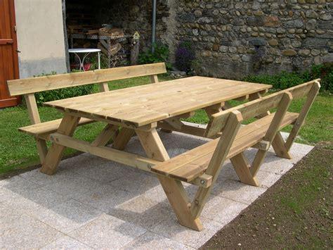 Table Pique Nique Bois