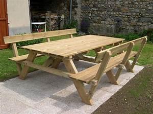 table picnic bois avec emejing table de jardin en bois With plan pour fabriquer une table de jardin en bois