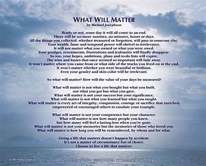 For Yourself or... Matter Of Life Quotes