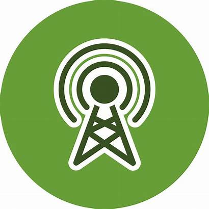 Broadcast Icon Vector Communication Icons Antenna Clipart