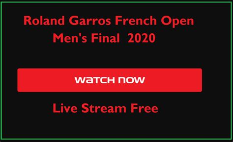Roland Garros French Open Men's Final 2020 Live Stream ...