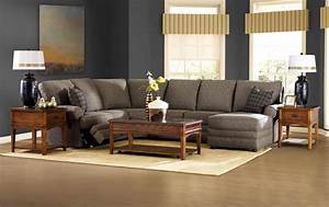 Klaussner belleview reclining sectional with right side for Fabric sectional sofas with chaise and recliner
