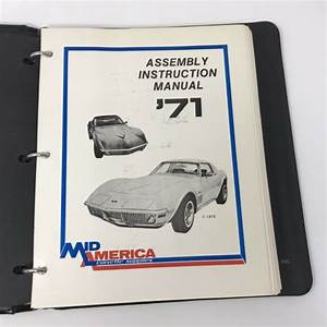 1975 Corvette Assembly Instruction Manual With Binder For