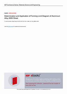 Pdf  Determination And Application Of Forming Limit
