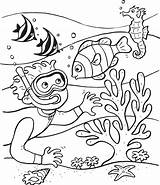 Coloring Sea Pages Plants Printable Print sketch template