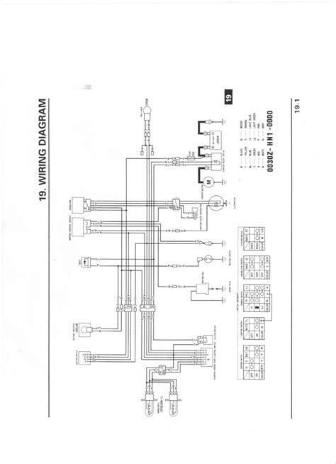 2001 honda 400ex wiring diagram 31 wiring diagram images