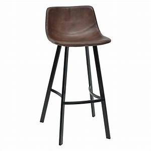 Tabouret Haut De Bar : tabouret haut de bar simili cuir marron h92cm joseph ~ Dailycaller-alerts.com Idées de Décoration