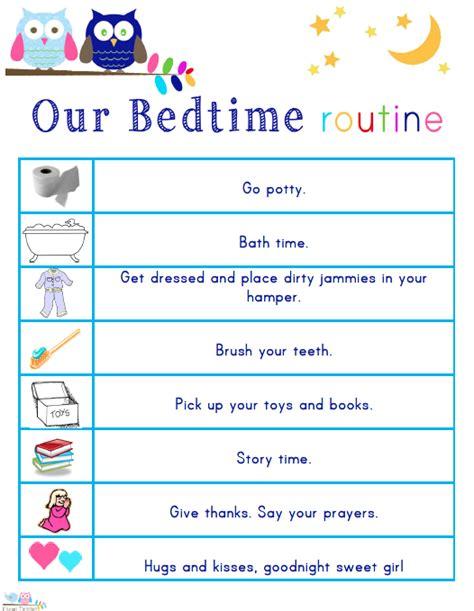 kids morning bedtime  ready  school