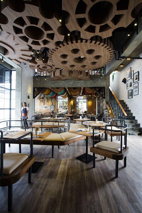 themed design restaurants with striking ceiling designs