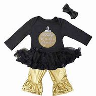 Gold and Black Baby Girl Outfit