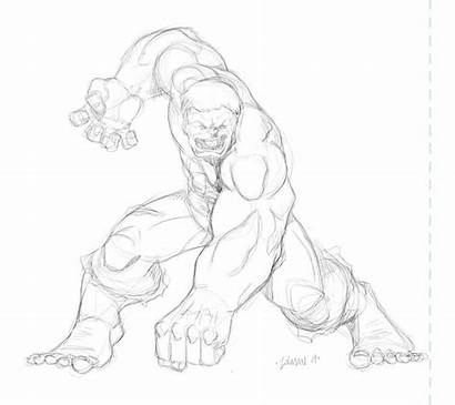 Hulk Drawing Coloring Mindless Popular Matt Coloringhome