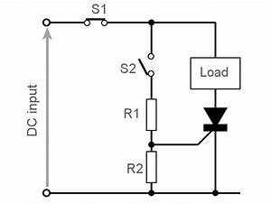 scr circuits how thyristor circuit works electronics notes With how to make simple scr circuits