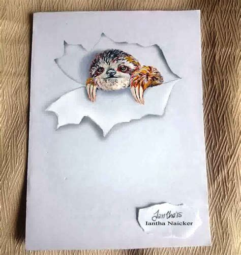 3d Animal Drawing Between The Lines ~ Art Craft T Ideas