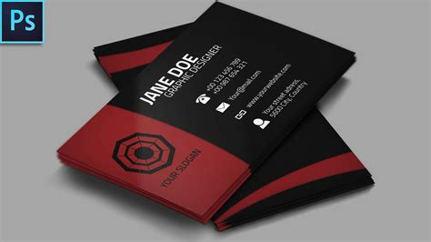 cool creative business card psd photoshop tutorial