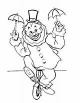 Coloring Unicycle Printable Clown sketch template