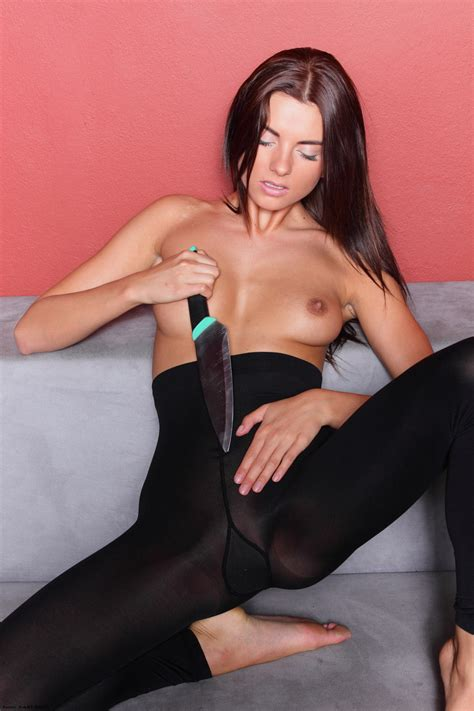 Hot Dangerous And Sexy Teen In Ripped Pantyhose